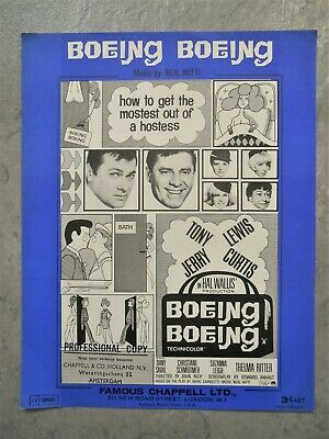 '65 Film sheet music BOEING BOEING by Neil Hefti *feat Tony Curtis & Jerry Lewis