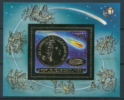 [16079] Guinea 1986 : Good Very Fine MNH Sheet With Gold Stamp