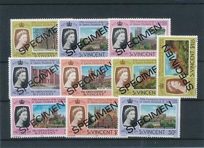 [16114] St Vincent : Good Lot of Very Fine MNH SPECIMEN Stamps