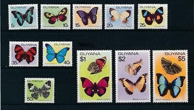 [16127] Guyana 1978 : Butterflies - Good Set Very Fine MNH Stamps - $30