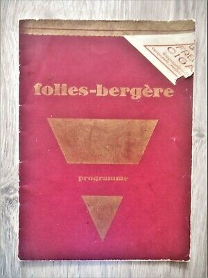 vintage 1927 FOLIES-BERGÈGE program booklet with JOSEPHINE BAKER and others
