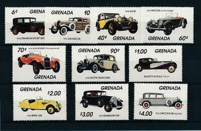 [50997] Grenada 1983 Cars good set MNH Very Fine stamps