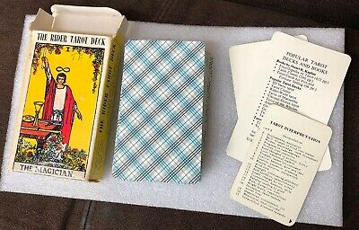 100% Authentic 1971 Vintage Rider Waite Tarot Cards The MAGICIAN 78 Card Deck +2