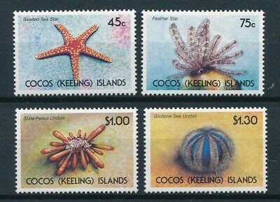 [51153] Cocos Islands 1991 Marine Life good set MNH Very Fine stamps