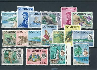 [51190] Dominica 1963-67 good set MNH Very Fine stamps $65