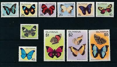 [51388] Guyana 1978 Butterflies good set MNH Very Fine stamps