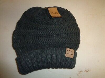67644a535be3c CC Beanie Exclusive Over-sized Baggy Slouchy Thick C.C Grey Beanie!