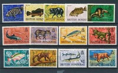 [51418] British Honduras 1968 Wild Animals good set MNH VF stamps $35