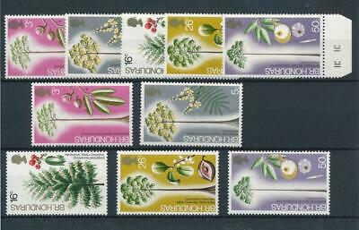 [51419] British Honduras 1972 Flowers Trees 2x good set MNH VF stamps