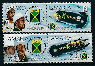 [51572] Jamaica 1988 Olympics Bobsleigh good set MNH Very Fine stamps