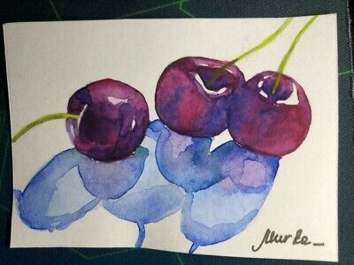 ACEO Original Art Painting 8 by Murka N f4