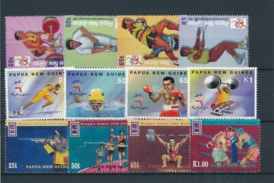 [51906] Papua New Guinea Sports Olympics lot 3 good sets MNH VF stamps