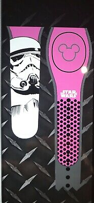 NEW DISNEY PARKS Star Wars Stormtrooper PINK Magicband 2 Unlinked