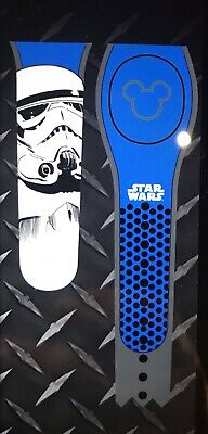 NEW DISNEY PARKS Star Wars Stormtrooper BLUE Magicband 2 Unlinked
