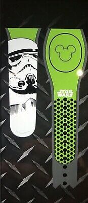 NEW DISNEY PARKS Star Wars Stormtrooper GREEN Magicband 2 Unlinked