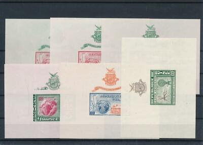 [G47893] Guinea : Good Lot of 6 Very Fine MNH Imperf Sheets