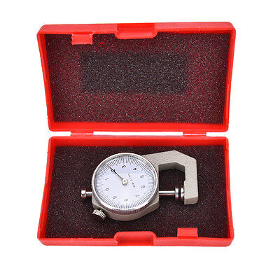 Thickness Measure Round Dial Gauge Gage Tester Leather Craft Pocket 0-10mm  Al