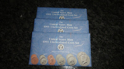 1991 U.s. Mint Set As Issued By The Us Mint Complete Set