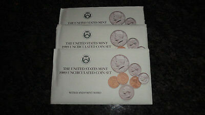 1989 U.s. Mint Set As Issued By The Us Mint Complete Set (Iu)