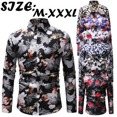 Mens Formal Business Slim Fit Shirt Luxury Casual Long Sleeve Tops Blazer Blouse