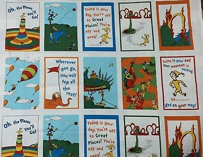 Robert Kaufman Dr Seuss Precut 5 Inch Cotton Fabric Quilting