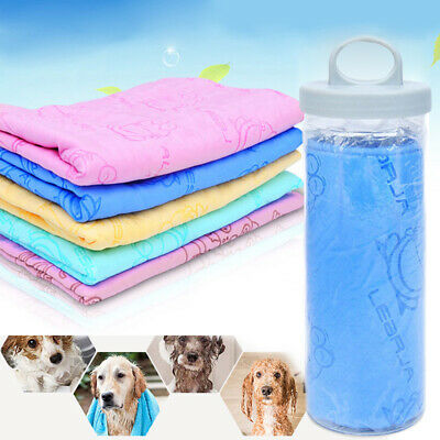 UK Pet Cat Dog Towel Drying Grooming Microfiber Bath Cleaning Towels Supplies