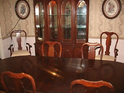 PENNSYLVANIA HOUSE SOLID Cherry Wood Dining Room Set W/China ...