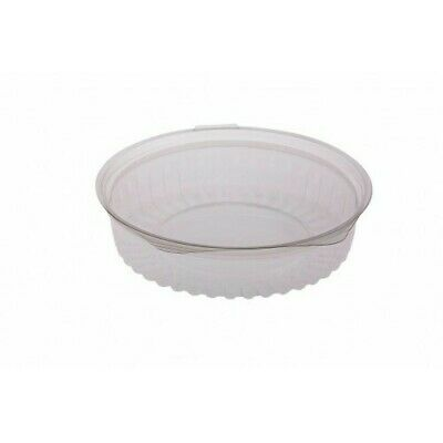 150x Clear Plastic Container w Hinged Flat Lid 20oz/570ml Disposable SPECIAL