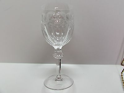 """Waterford Cut Crystal Stemware Curraghmore 7 1/2"""" Water Goblet Glass Etched Mark"""