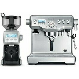 Breville - Dual Boiler Coffee Machine + Smart Grinder Pro - Stainless Steel
