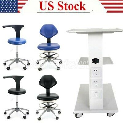 Dental Trolley Mobile Instrument Medical Cart /Adjustable Mobile Chair