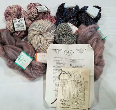 RARE 'TO DYE FOR' COLINETTE YARNS Pullover Cardigan or Throw KIT Mohair Chenille