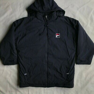 b90634e01341a RARE Vintage Fila Coat Men's Size XXL - Detachable Hood 2XL VTG 90s Logo  Jacket
