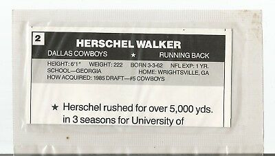1987 Wheaties Starline Herschel Walker Poster Unopened
