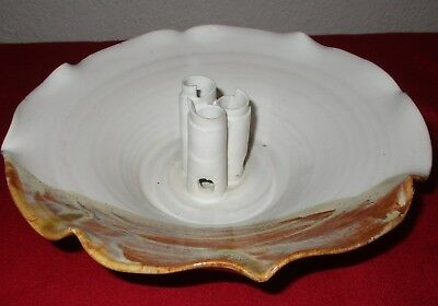 Rita Ryan Famous NM Art Potter Authentic Hand Made Signed Ikebana flower bowl