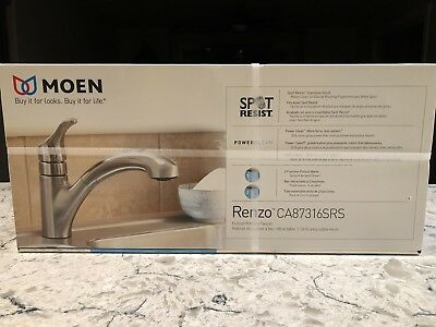 Moen Renzo Single Handle Pull-Out Kitchen Faucet - CA87316SRS
