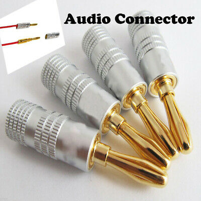 Gold Plated Hot Durable Copper Adapter Banana  Audio Plug Connector Cable