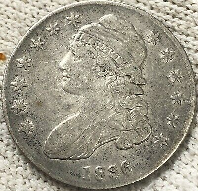 1836 Capped Bust Silver Half Dollar, Beautiful Extra Nice Circ Coin. No Reserve!