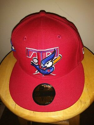 67deb097740 Toronto Blue Jays Cap New Era Banner Patch 59FIFTY MLB Rare Red Hat Adults  7 1