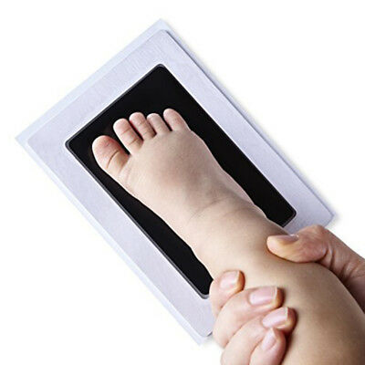 Baby Newborn Handprint Footprint Photo Frame Kit Non Toxic Clean Touch Ink Pad