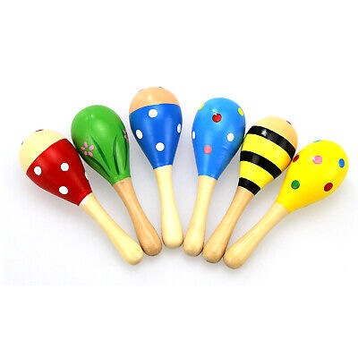 New Baby Kids Sound Music Gift Toddler Rattle Musical Wooden Intelligent Toys SZ