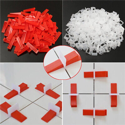Tile Leveling Plastic Spacers Tiling Clips Wedges Tools 400Pcs