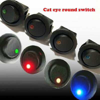 Dot Rocker Car Auto Durable LED Light Toggle Boat Round SPST ON/OFF  Switch