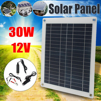 15/20/25/30W 12V Flexible Solar Panel Battery Charger USB / Controller RV Boat