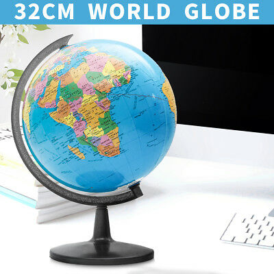 Rotating World Earth Globe Blue Ocean Map Kids Child Toy Education Gift 20 32cm