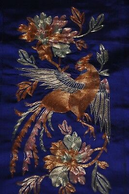 Embroidered Chinese silk panels