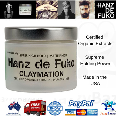 Hanz De Fuko Claymation Super High Hold Matte Finish Clay-wax Hair Style Gel