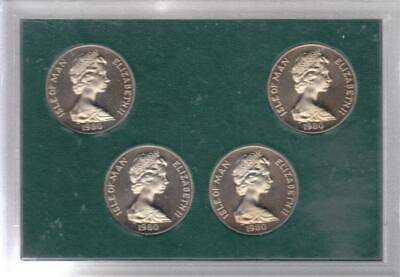 1980 Isle Of Man 4 Proof Crown Set, Olympic Games In Moscow  C33