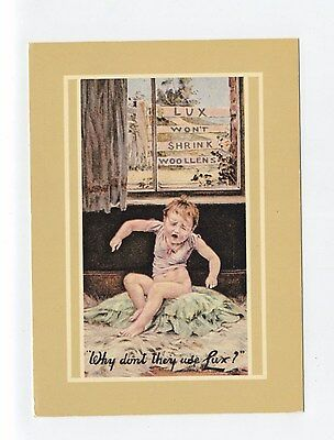 ad451  - advert for Lux washing  flakes - young boy - modern art postcard