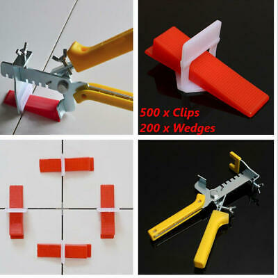 Tile Leveling Plastic Spacers Lippage Tiling Clips Wedges Tools 701Pcs